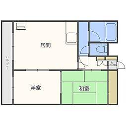 プラチナマンション北21条[1階]の間取り