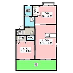 シャーメゾン松新[1階]の間取り