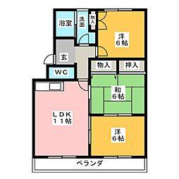 レジデンス'95[3階]の間取り
