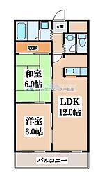 スカイガーデン東大阪[105号室]の間取り