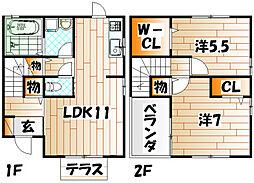 ベルドミールB棟[2階]の間取り