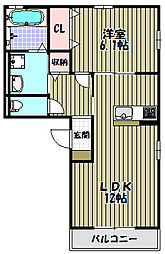 セレナーデA棟[3階]の間取り