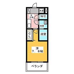 REGALO桜本町[6階]の間取り