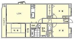 ロイヤルガーデン博多[1階]の間取り