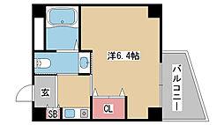 兵庫県神戸市灘区篠原南町6丁目の賃貸マンションの間取り