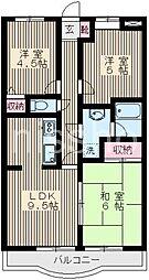 3075-エスポワール石神井B棟[2階]の間取り