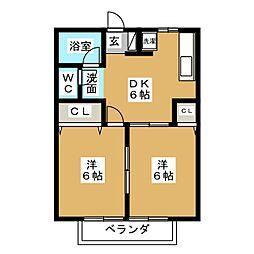 メゾンルミエール[2階]の間取り