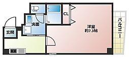 Osaka Metro御堂筋線 大国町駅 徒歩5分の賃貸マンション 8階1Kの間取り