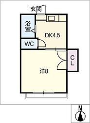 萬徳ビル[3階]の間取り