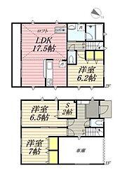 [一戸建] 神奈川県茅ヶ崎市十間坂3丁目 の賃貸【/】の間取り