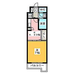 西田ビル[2階]の間取り
