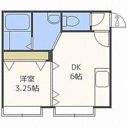 ドエルてん澄川42[1階]の間取り