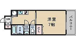 レインボーコート立売堀[9階]の間取り