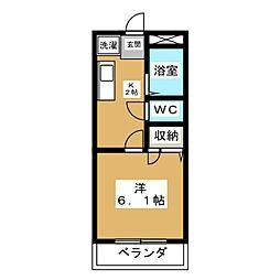 サマックスAOKI A[1階]の間取り