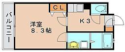 ラメール高田[2階]の間取り