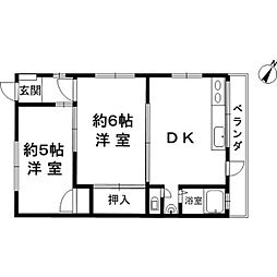 江田文化[2階]の間取り