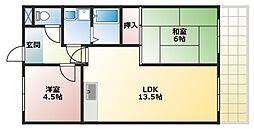 コスモグレイスI[2階]の間取り