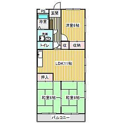 愛知県名古屋市港区正保町7丁目の賃貸マンションの間取り