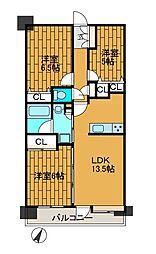 クリオ町田弐番館[4階]の間取り