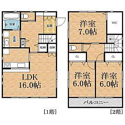 [一戸建] 千葉県千葉市中央区浜野町 の賃貸【/】の間取り
