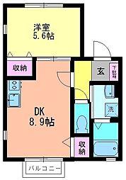 千葉県松戸市栄町3丁目の賃貸アパートの間取り