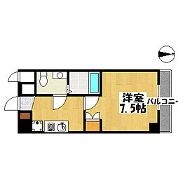 JR山陽本線 垂水駅 徒歩7分の賃貸マンション 4階1Kの間取り