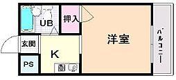 ハイネスト今井1[305号室]の間取り