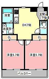 花の台ハイツ[2階]の間取り