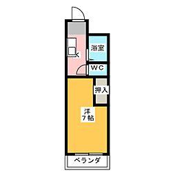 マンション第三丸鎰[1階]の間取り