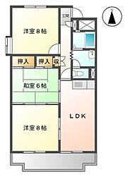 桜橋ハイツ[1階]の間取り