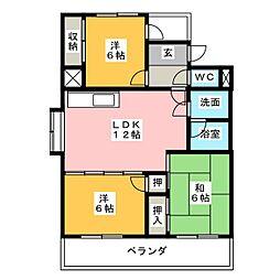 ビッドフォードマンション[2階]の間取り