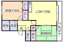 M・N・R・KOKUBU[201号室]の間取り