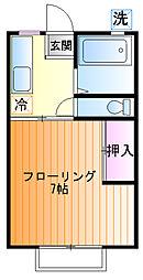 ピアシティナカムラ[2F号室]の間取り