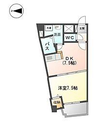 グラディーレ[3階]の間取り