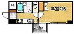 京都府京都市上京区栄町の賃貸マンションの間取り