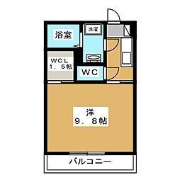 仮称)堀江1丁目共同住宅新築工事 3階1Kの間取り