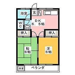 ロイヤルマンションZERO[3階]の間取り