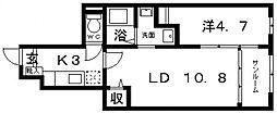 エスポワール[103号室号室]の間取り