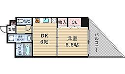 アプライズ西長堀[4階]の間取り