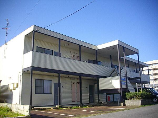 新潟県新発田市豊町2丁目の賃貸アパートの外観