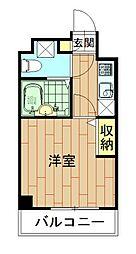 神奈川県川崎市中原区新丸子東2丁目の賃貸マンションの間取り