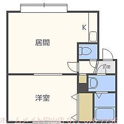プレステージN3[3階]の間取り