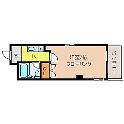 兵庫県神戸市東灘区田中町1丁目の賃貸マンションの間取り