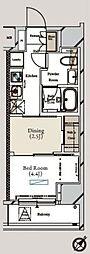 東京メトロ有楽町線 月島駅 徒歩3分の賃貸マンション 3階1DKの間取り