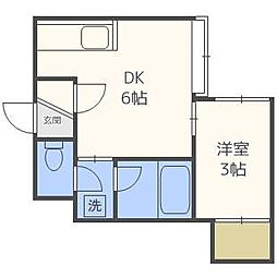 スプリーム豊平壱番館[1階]の間取り