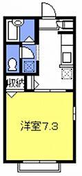リバーサイドハイツII[101号室号室]の間取り