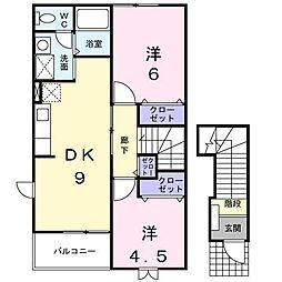 リバティホール[2階]の間取り