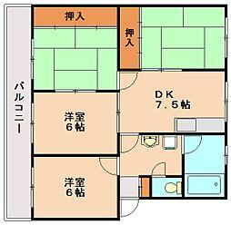 春日パークマンション[4階]の間取り