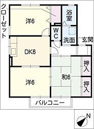 エクセレントシルヴィアC棟[2階]の間取り