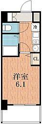 エステムコート四天王寺夕陽丘[7階]の間取り